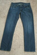   Mens Jeans size 32 x 32 Levis Strauss 514 Slim Straight blue faded male