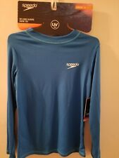 Youth Speedo UV Long Sleeve Swim Rash Guard UV 50+