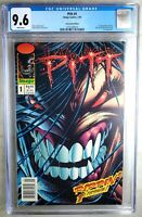 Pitt #1 NEWSSTAND 1993 1st Appearance Image CGC 9.6 NM+ White Pages Comic R0020