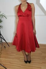 DEBUT STUNNING RED SATIN COCKTAIL/PROM/ROCKABILLY PARTY DRESS SIZE 16 rrp £85