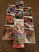 LARGE 10 GAME LOT - Wii - MARIO KART, SUPER MARIO, ZELDA, SONIC, LEGO - AND MORE