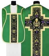 Green Roman Chasuble Set R675-AZ25 Vert Casulla Romana Verde Casula Grün Kasel