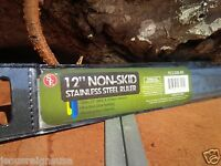 "12"" Stainless Steel RULER Non Skid Cork Measure Tool SAE & Metric School Office"