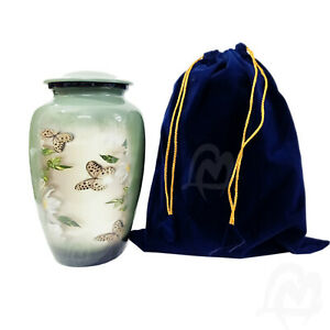Adult Cremation Urn for Human Ashes Lovely Butterfly Urn Pet Urns Funeral Urn