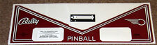 FUTURE SPA Pinball Machine Apron Decal Set LICENSED