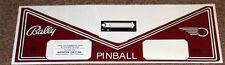 FLASH GORDON Pinball Machine Apron Decal Set LICENSED