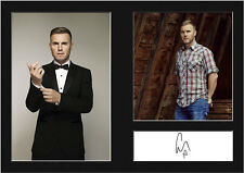GARY BARLOW #1 Signed Photo Print A4 Mounted Photo Print - FREE DELIVERY