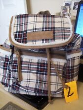 BNWT AMERICAN EAGLE FLANNEL SHERPA PLAID BACKPACK RETAIL $39.99 FREE SHIPPING *