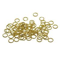 50 Pieces Split Brass Rings Small Key Rings Bulk Keychain Rings For Keys
