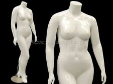 Female Mature Plus Size Headless mannequin with high heel feet #MD-NANCYBW1S