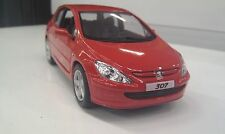 2001 Peugeot 307 XSI rojo kinsmart modelo juguete 1/32 escala coche de metal