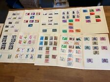 GB stamps QE II 1975-77 mint and used sets 10 leaves KGB10