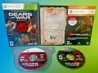 Gears of War Triple Pack Gears 1 2  Microsoft Xbox 360 Rare Complete Game Tested