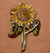 Vintage MFA Museum of Fine Arts Boston Sun Flower Enamel Brooch/Pin  F175