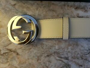 Gucci Belt-Beige/Oatmeal -size 90