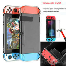 Tempered Glass Screen Protector With Slim Protective Case For Nintendo Switch