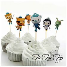 12x The Octonauts Topper Pick.  *HANDMADE* Party Supplies Lolly Loot Bag Cupcake