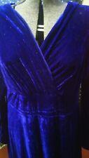 Blue Velvet Empire Waist Maxi Dress Xl