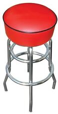 Red Bar Stool Stools Counter Top Chair Seat Rec Room Kitchen - Awesome - NIB