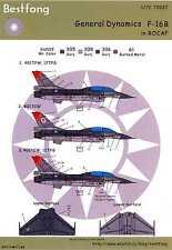 Bestfong Decals 1/72 GENERAL DYNAMICS F-16B Republic of China Air Force