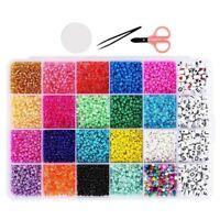 Beads Jewelry Making Kit Craft and Art Glass Pony Seed Bead for Bracelet E1Z8