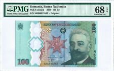 "Romania 100 Lei 2019 PMG 68 EPQ s/n 100B0013515 ""Commemorative"" POLYMER"