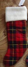 $59 NWT Ralph Lauren Plaid Christmas Stockings