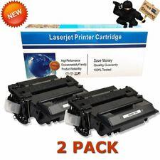 2PK Black Toner Fits HP CE255X 55X LaserJet P3015 P3015d P3015n P3015dn P3015x