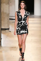 Isabel Marant Cotton Printed Mini Dress Spring 2015 Collection It 40 UK 8 or10