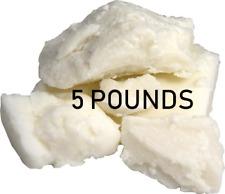 5 LBS Raw SHEA BUTTER Unrefined Organic White
