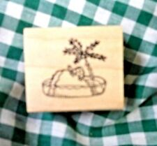 Turtle Island    -    NEW  Mounted Rubber Stamp
