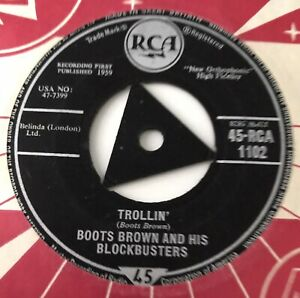 """BOOTS BROWN AND HIS BLOCKBUSTERS - 1959 - """"TROLLIN"""" - RCA1102 - *EX*"""