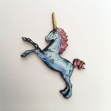 Unicorn brooch Fantasy wood pin Mystical jewelry Magic horse wooden jewellery