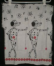 Laundered Unbranded Lightweight Piece of Dalmatian Print Fabric 23x18x23x18.5