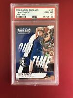 2018-19 Panini Threads Our Time Luka Doncic Rookie RC #15, PSA 10, 📈💰 Pop/24🔥