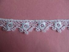 """Pretty Venice Floral Lace Rayon Edge 10yd Craft Trim 1""""  Dolls 1706a"""