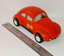 Vintage Tonka Volkswagen Beetle Bug Twinkle Toes Orange #52680 VW Metal Steel