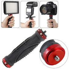 "1/4"" Handheld Camera Stabilizer Handle Grip Tripod Stand DSLR LED Light Flash"