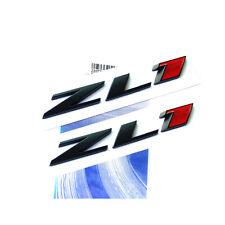 """2x Genuine Camaro """"ZL1"""" emblem badges GM letter Side Door Rear W OEM Black RED"""
