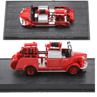 1:64 Fire Truck 1960 Premier-secours Hotchkiss FRANCE Diecast Models Toys Red