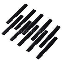 10 Pcs Black Plastics Acoustic Guitar Saddle 72mm Guitar Parts