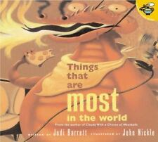THINGS THAT ARE MOST IN THE WORLD (Brand New Paperback) Judi Barrett