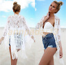 Women Lace Splicing Tassel Bikini Cover Up Swimwear Bathing Suit Beach Dress