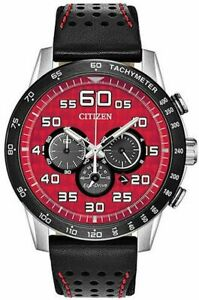 NEW Citizen Primo Men's CA4430-01X Chronograph Red Dial 44mm Watch MSRP $375