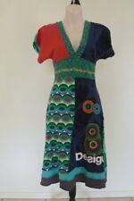 DESIGUAL DRESS Multi Coloured Short Sleeve Size XS 6 8