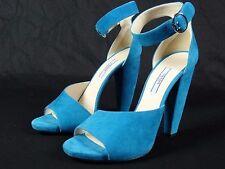 NIB Womens Prada Camoscio Ottanio Blue Suede Heels Shoes sz 39 EU 8.5 9 US