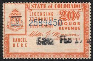 20c Colorado Liquor Revenue, Used [5] ANY 4=