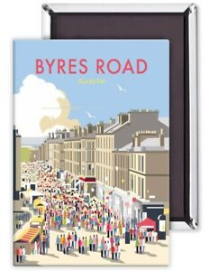 Glasgow Byres Road by Dave Thompson fridge magnet(se)