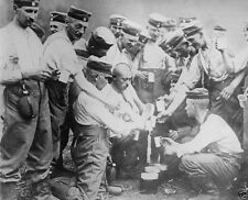 German soldiers refilling canteens with water 1914 World War I 8x10 Photo