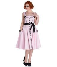 HELL BUNNY 50's MARTIE POLKA DOT rockabilly DRESS RED MINT PINK